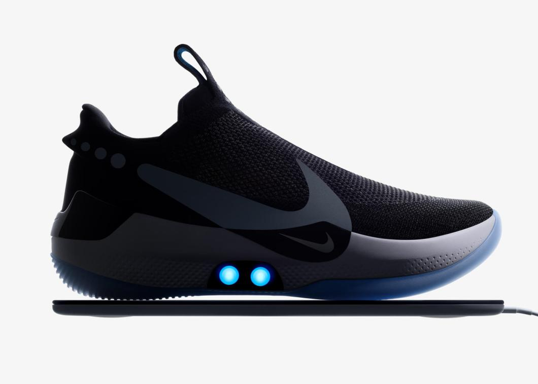 f618dc3cc65 A custom motor and gear train within the Nike Adapt BB senses tension  needed by the foot and adjusts an upper made of high-tenacity Flyknit outer  shell and ...